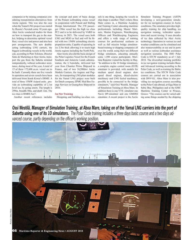Maritime Reporter Magazine, page 66,  Aug 2018
