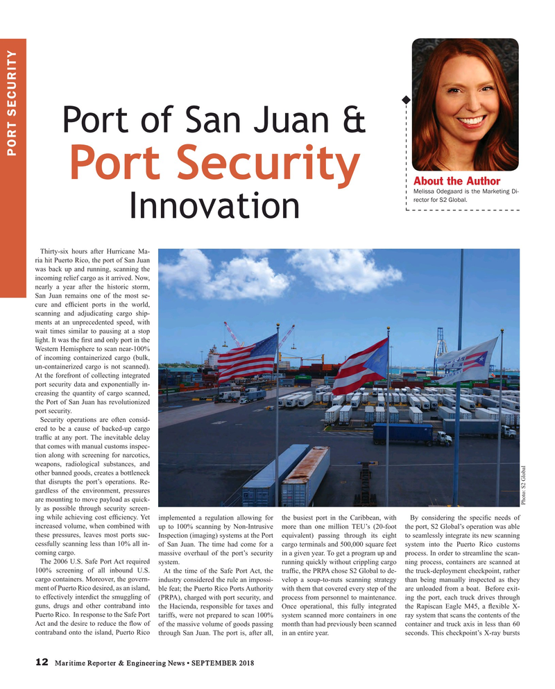 Maritime Reporter Magazine, page 12,  Sep 2018
