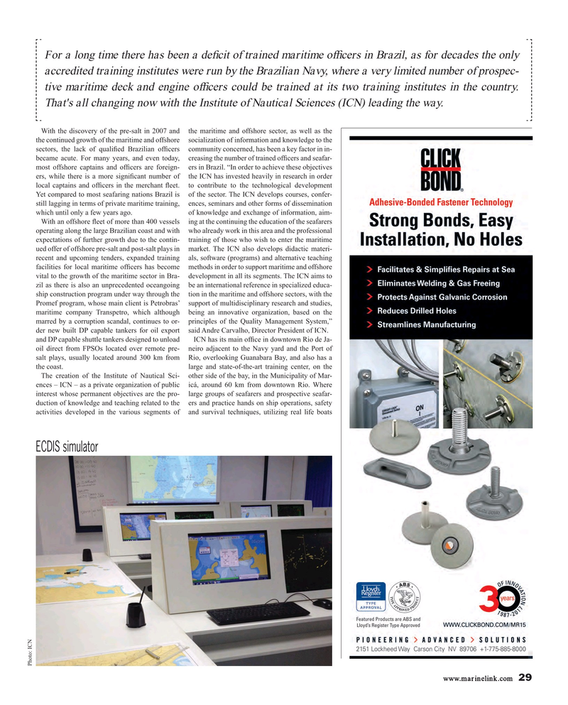 Maritime Reporter Magazine, page 29,  Sep 2018