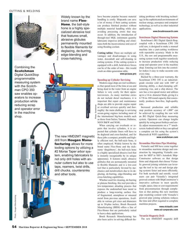 Maritime Reporter Magazine, page 54,  Sep 2018