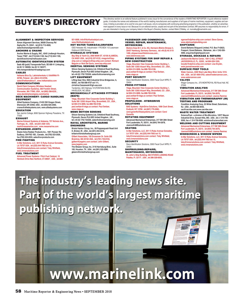 Maritime Reporter Magazine September 2018, 58 page