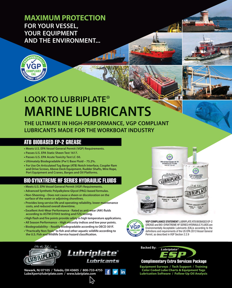 Maritime Reporter Magazine, page 3rd Cover,  Sep 2018