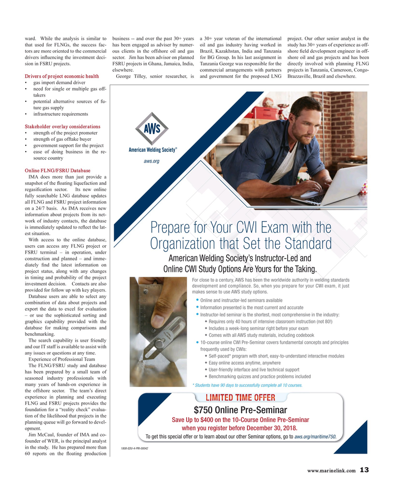 Maritime Reporter Magazine October 2018, 13 page