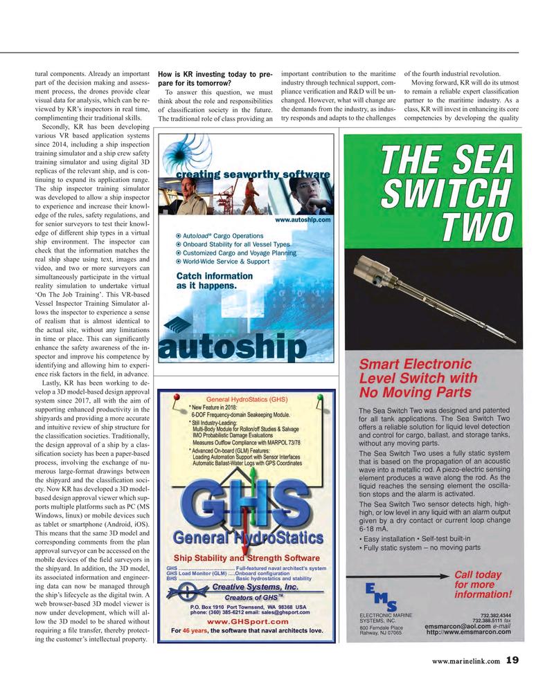 Maritime Reporter Magazine, page 19,  Oct 2018