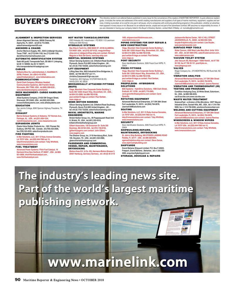 Maritime Reporter Magazine, page 90,  Oct 2018