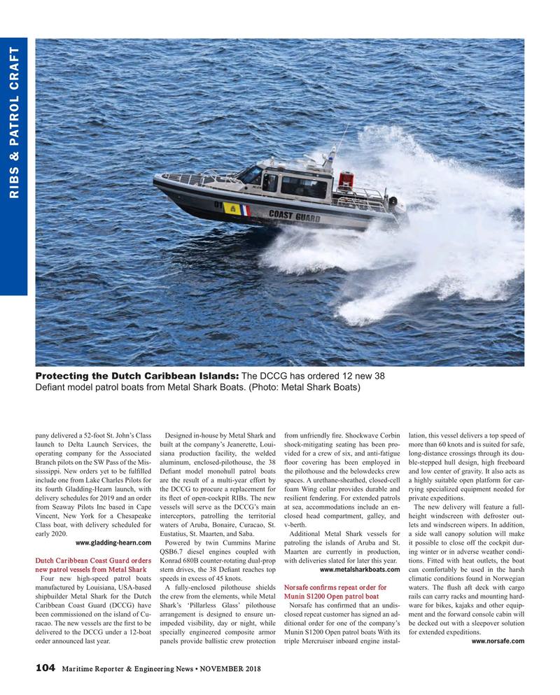 Maritime Reporter Magazine, page 104,  Nov 2018
