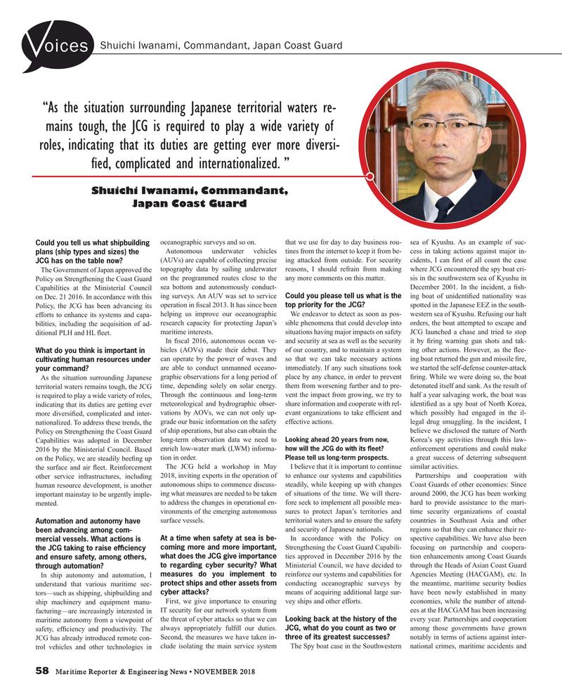 Maritime Reporter Magazine, page 58,  Nov 2018