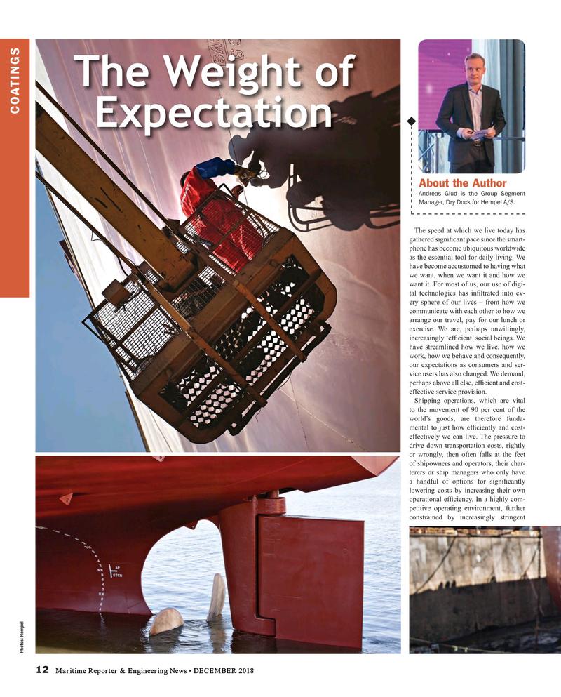 Maritime Reporter Magazine, page 12,  Dec 2018