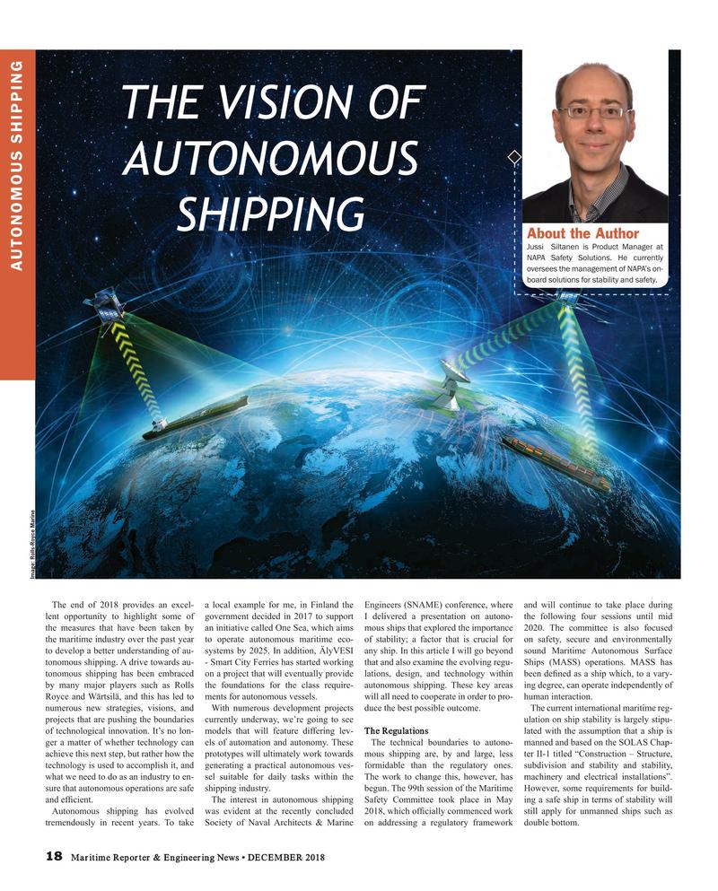 Maritime Reporter Magazine, page 18,  Dec 2018