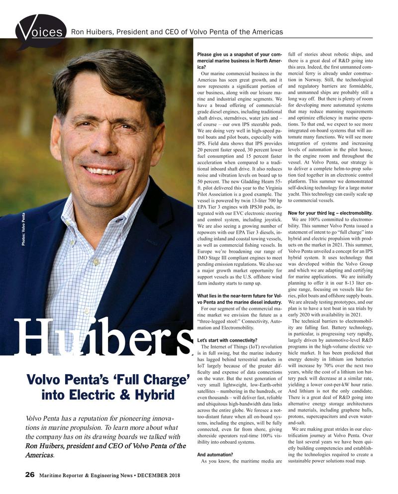 Maritime Reporter Magazine, page 26,  Dec 2018