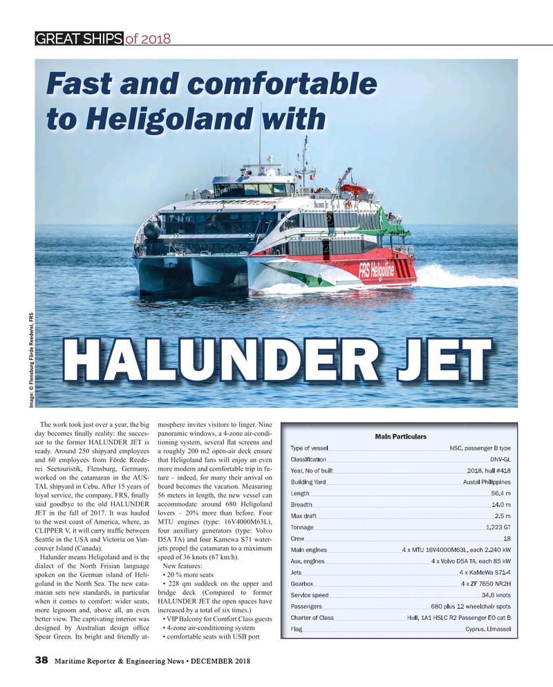 Maritime Reporter Magazine, page 38,  Dec 2018