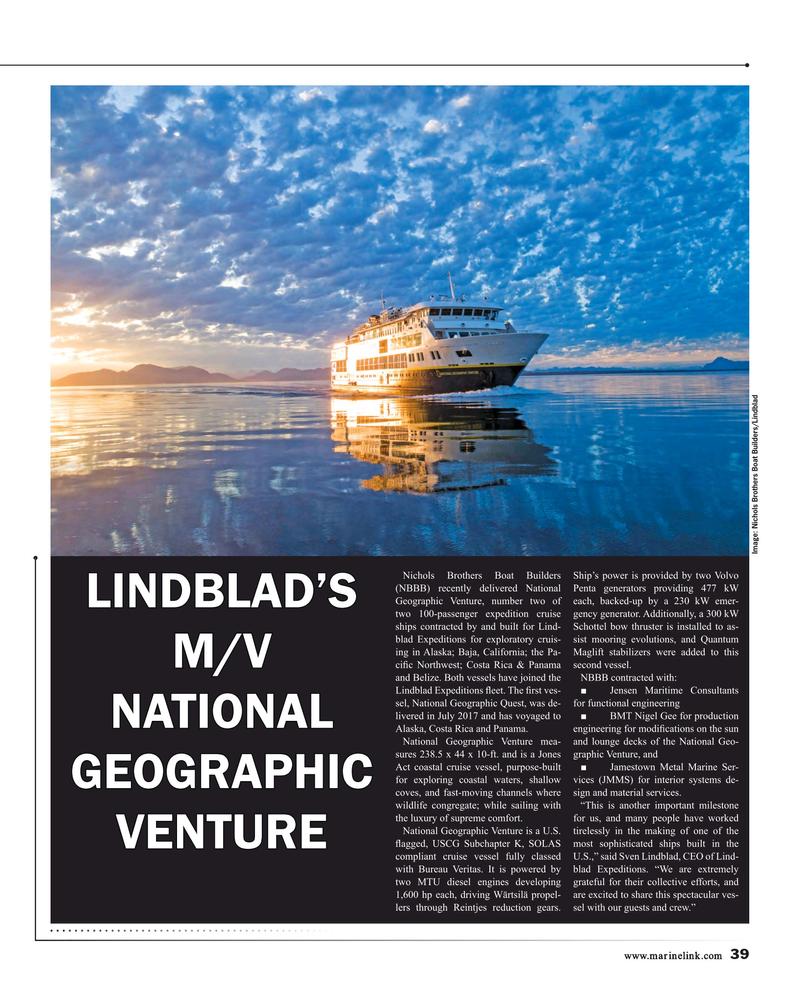 Maritime Reporter Magazine, page 39,  Dec 2018