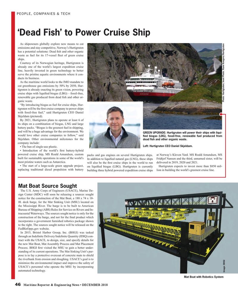 Maritime Reporter Magazine, page 46,  Dec 2018