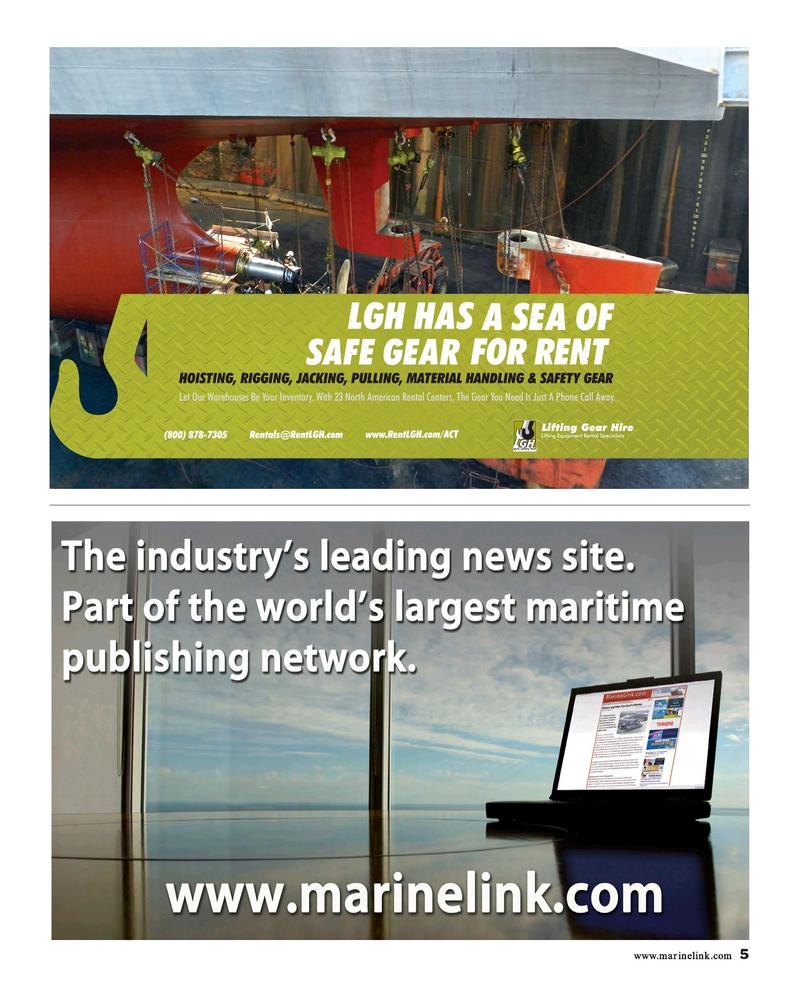 Maritime Reporter Magazine, page 5,  Dec 2018