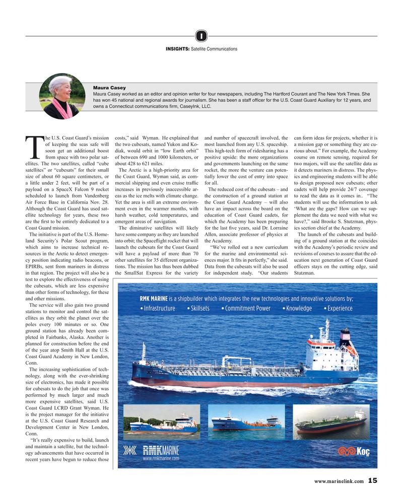 Maritime Reporter Magazine, page 15,  Jan 2019
