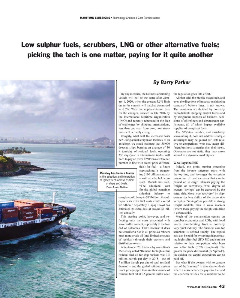 Maritime Reporter Magazine, page 43,  Jan 2019