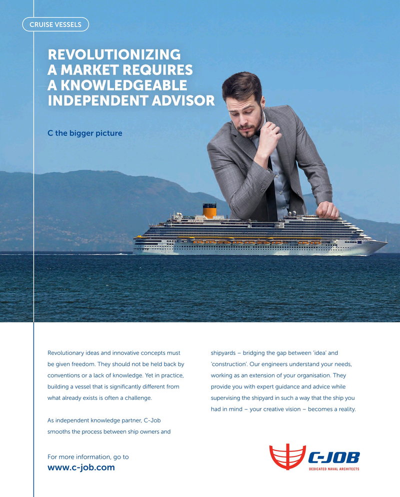 Maritime Reporter Magazine, page 3rd Cover,  Jan 2019