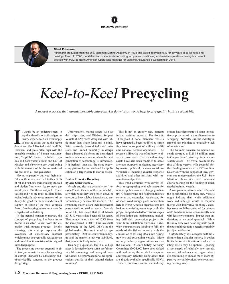 Maritime Reporter Magazine, page 12,  Feb 2019