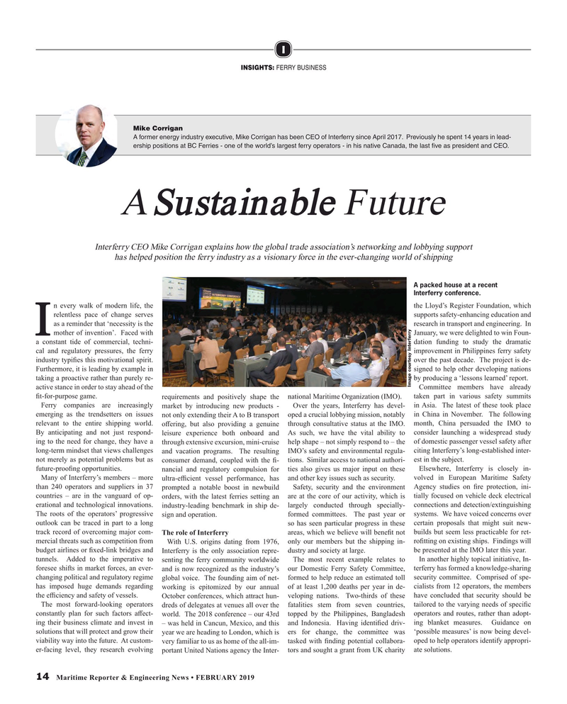 Maritime Reporter Magazine, page 14,  Feb 2019