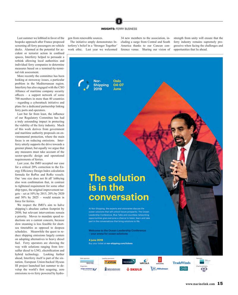 Maritime Reporter Magazine, page 15,  Feb 2019