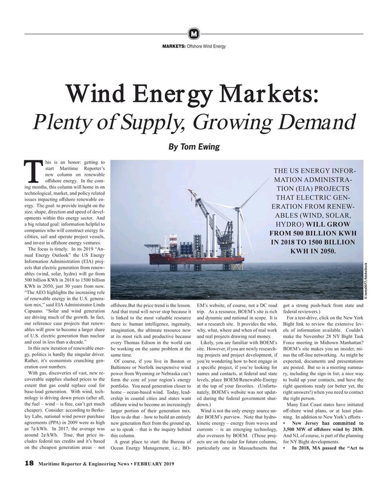 Maritime Reporter Magazine, page 18,  Feb 2019