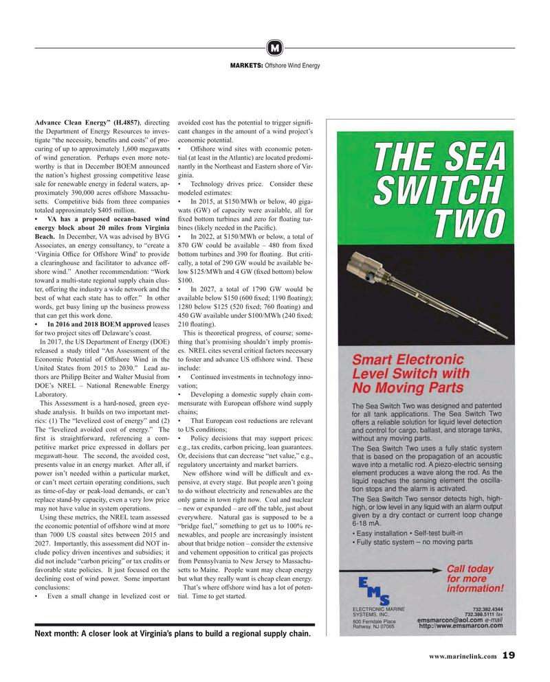 Maritime Reporter Magazine, page 19,  Feb 2019
