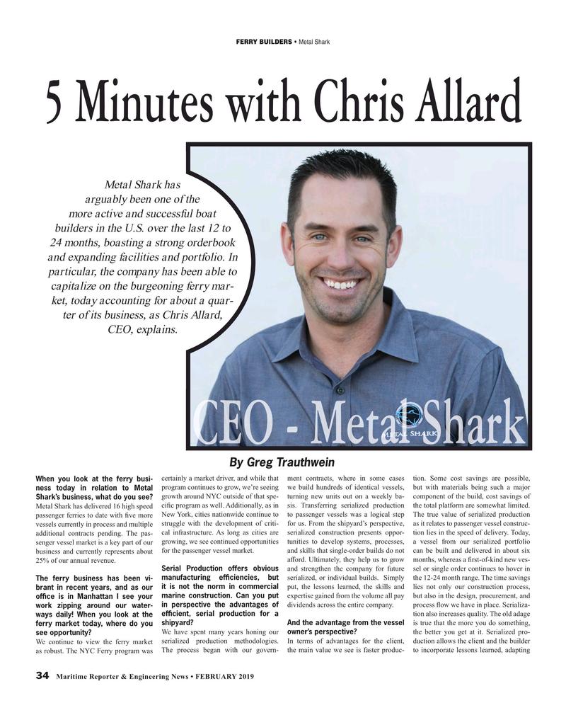 Maritime Reporter Magazine, page 34,  Feb 2019