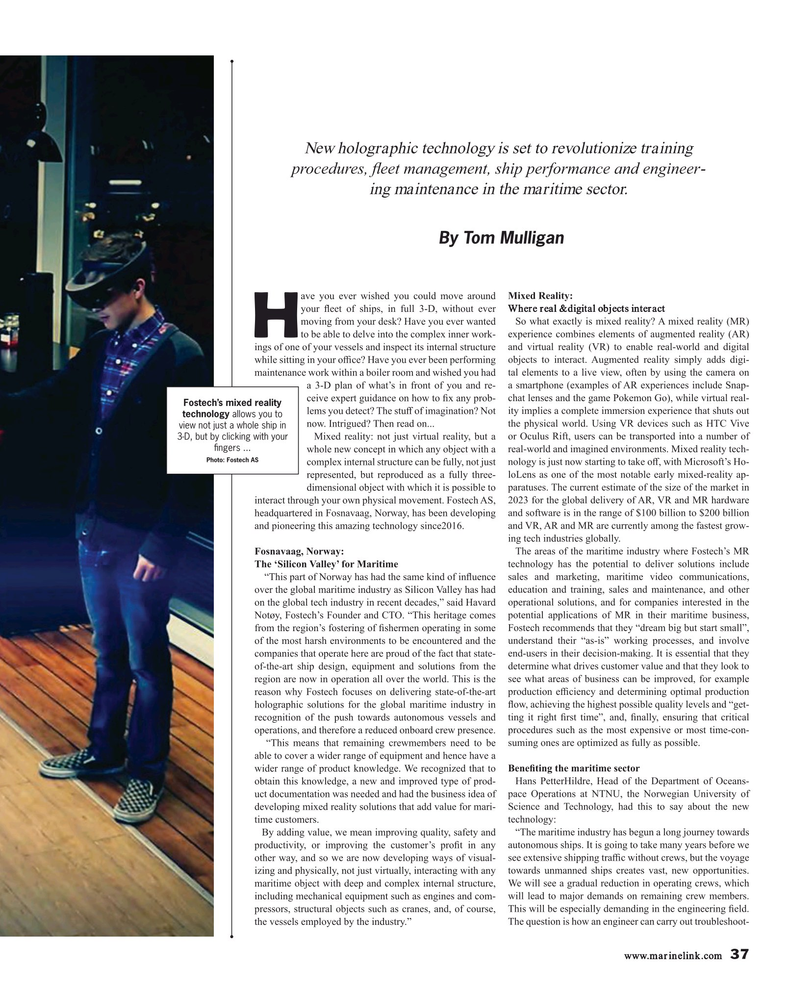 Maritime Reporter Magazine, page 37,  Feb 2019