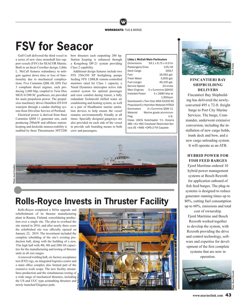 Maritime Reporter Magazine, page 43,  Feb 2019
