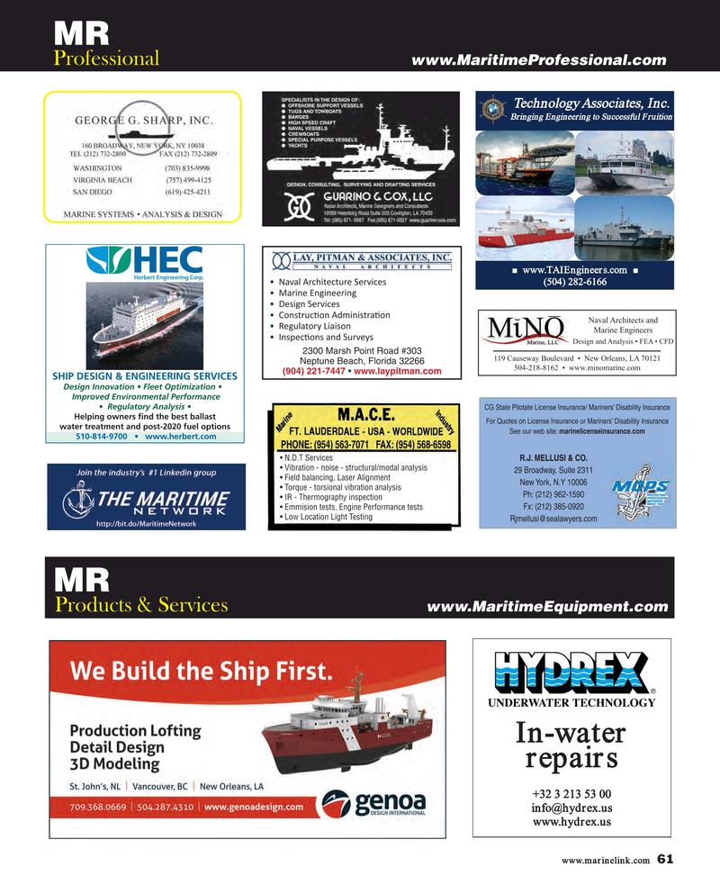 Maritime Reporter Magazine, page 61,  Feb 2019