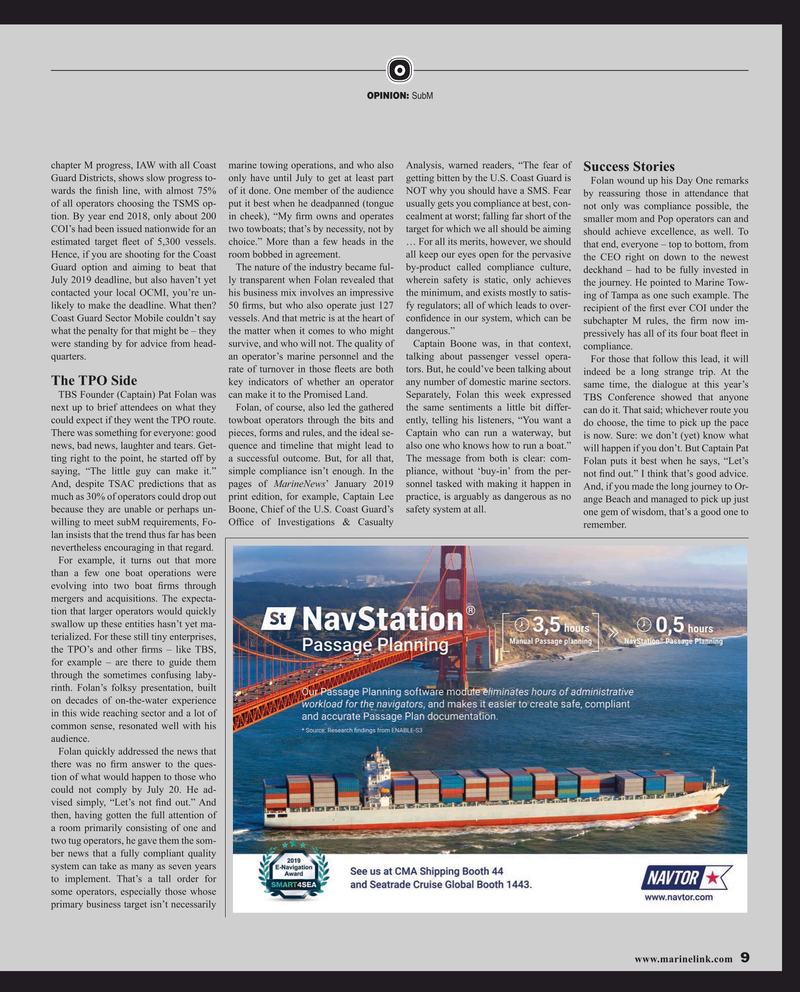 Maritime Reporter Magazine, page 9,  Mar 2019