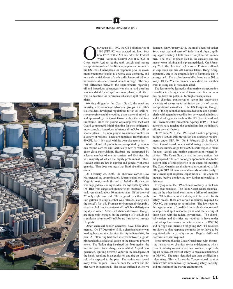 Maritime Reporter Magazine, page 11,  Mar 2019