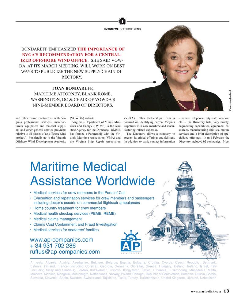 Maritime Reporter Magazine, page 13,  Mar 2019