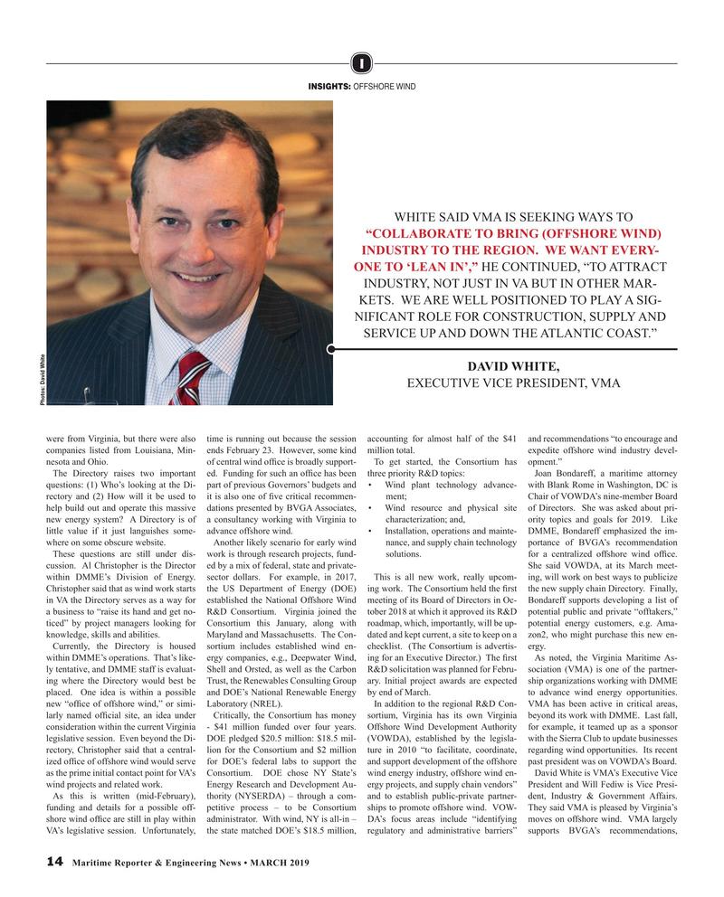Maritime Reporter Magazine, page 14,  Mar 2019