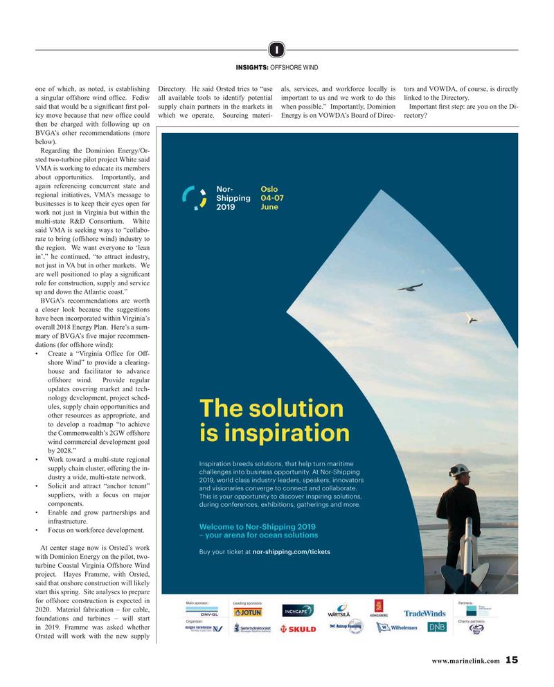 Maritime Reporter Magazine, page 15,  Mar 2019