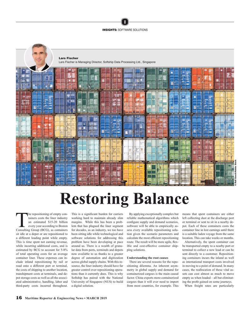 Maritime Reporter Magazine, page 16,  Mar 2019