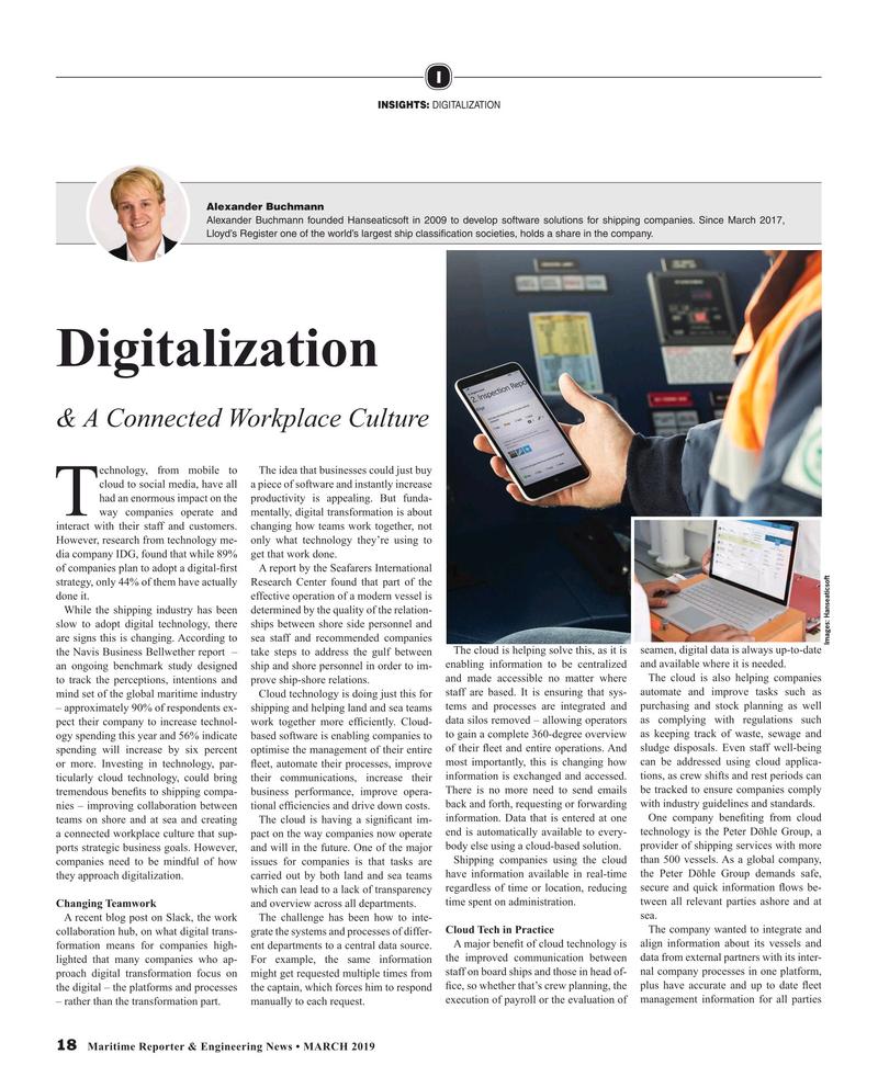Maritime Reporter Magazine, page 18,  Mar 2019