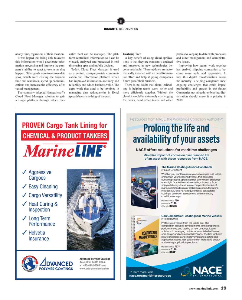 Maritime Reporter Magazine, page 19,  Mar 2019