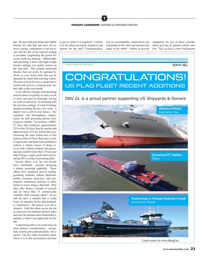 Maritime Reporter Magazine, page 21,  Mar 2019