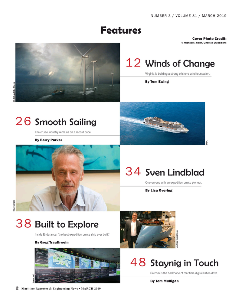 Maritime Reporter Magazine, page 2,  Mar 2019