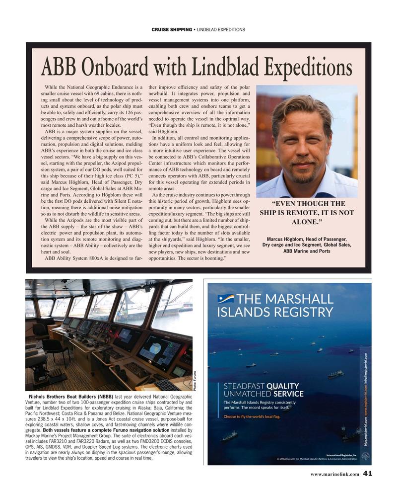 Maritime Reporter Magazine, page 41,  Mar 2019