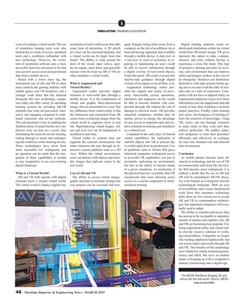 Maritime Reporter Magazine, page 46,  Mar 2019