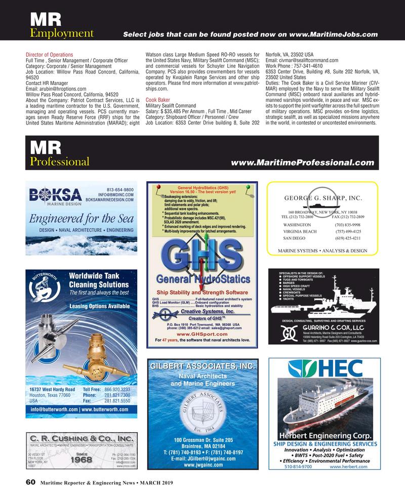 Maritime Reporter Magazine, page 60,  Mar 2019