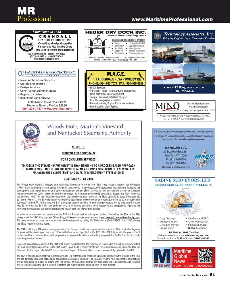 Maritime Reporter Magazine, page 61,  Mar 2019