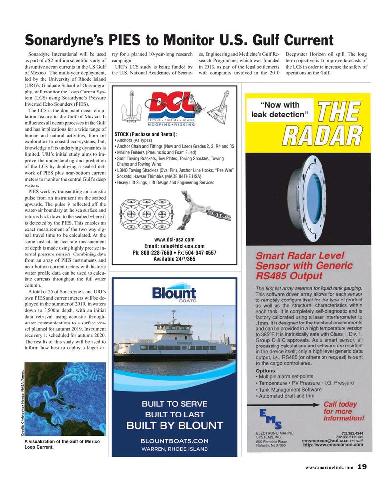 Maritime Reporter Magazine, page 19,  Apr 2019