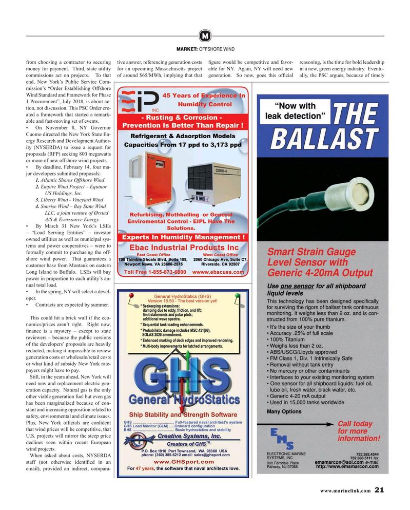Maritime Reporter Magazine, page 21,  Apr 2019