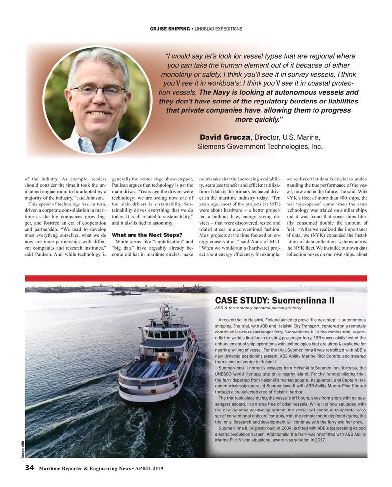 Maritime Reporter Magazine, page 34,  Apr 2019