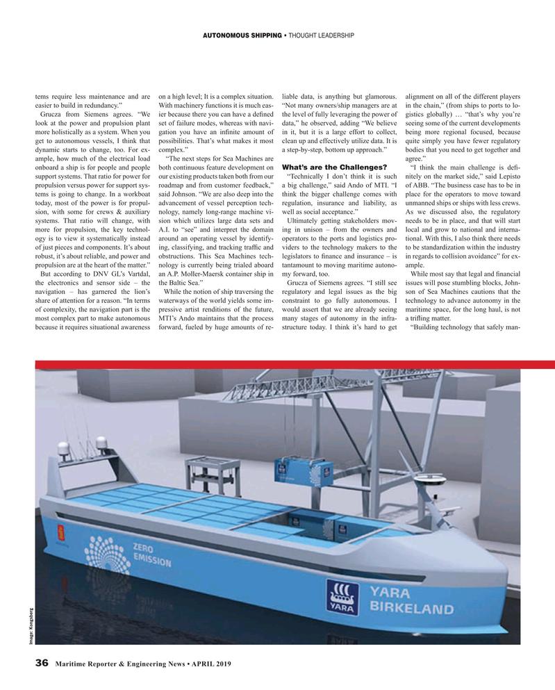 Maritime Reporter Magazine, page 36,  Apr 2019
