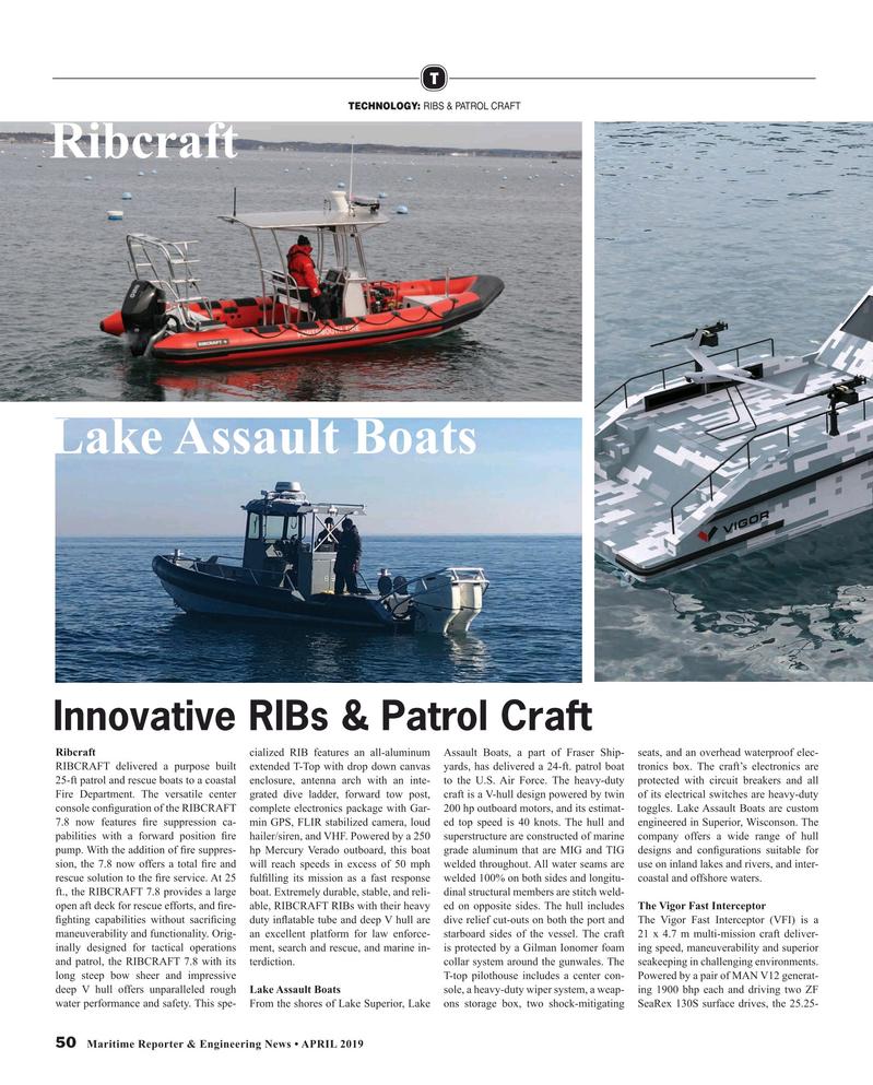 Maritime Reporter Magazine, page 50,  Apr 2019