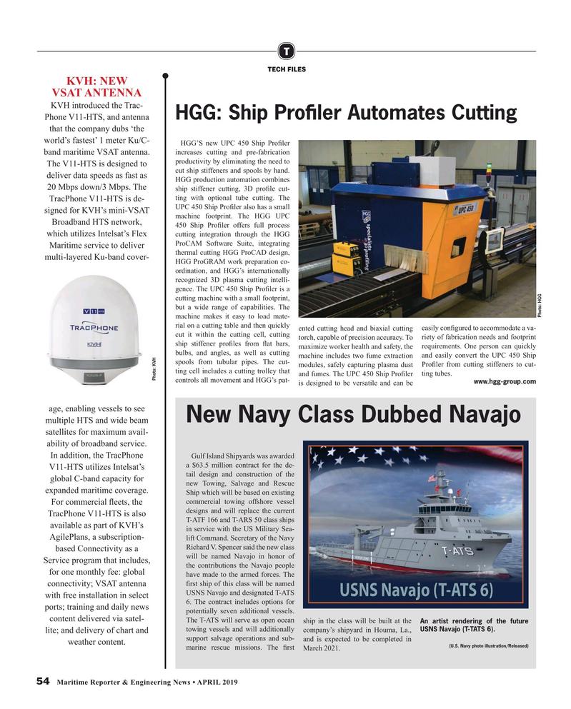Maritime Reporter Magazine, page 54,  Apr 2019